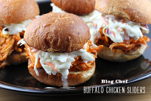 Foodie Crush Blog Chef Buffalo Chicken Sliders