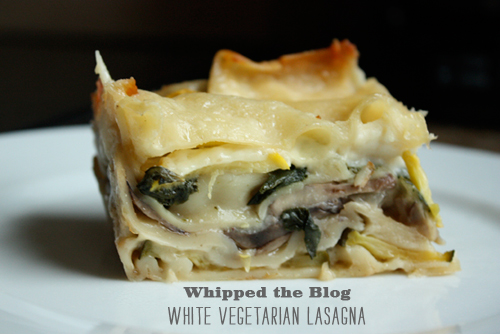 FoodieCrush Whipped the Blog White Vegetarian Lasagna