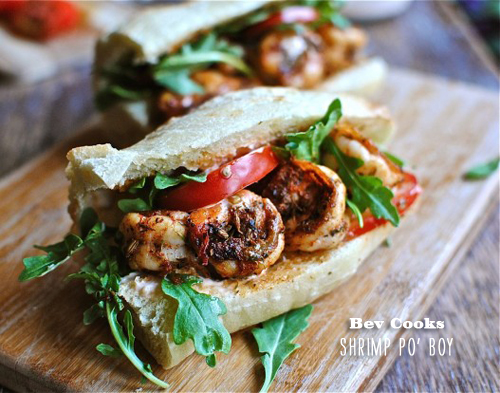 FoodieCrush Bev Cooks Shrimp Po Boy