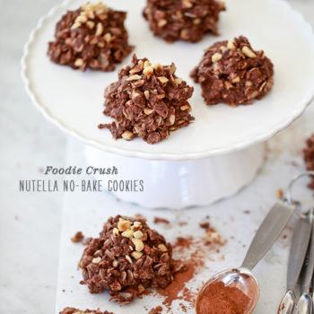 Nutella No Bake Cookies | Foodiecrush.com