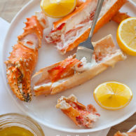 Foodie Crush Steamed Alaskan King Crab Legs