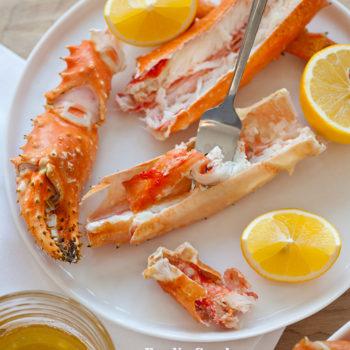 Foodie Crush Steamed Alaskan King Crab Legs