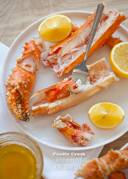 Fresh steamed Alaskan king crab legs are prepped and ready in under 10 minutes. Perfect for date night in or an easy family dinner!