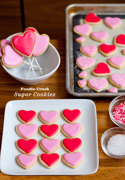 Cut-Out Valentine Cookes | foodiecrush