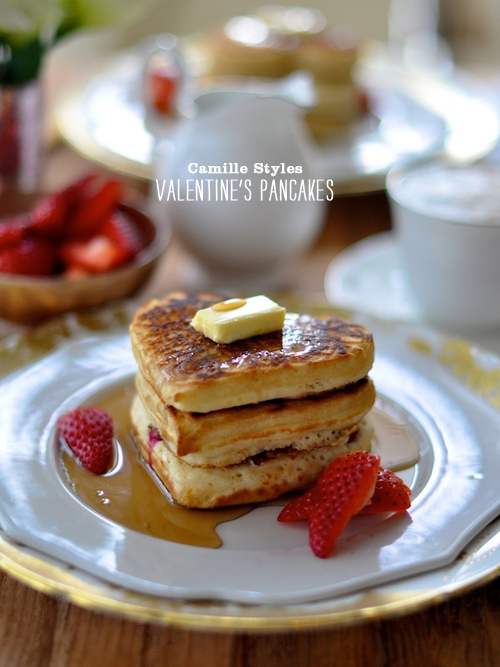 Foodie Crush Camille Styles Heart Shaped Pancakes