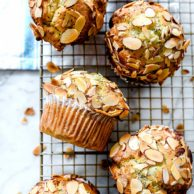 Lemon Poppyseed Muffins | foodiecrush.com #muffins #lemon #almond #poppyseed #recipes #easy
