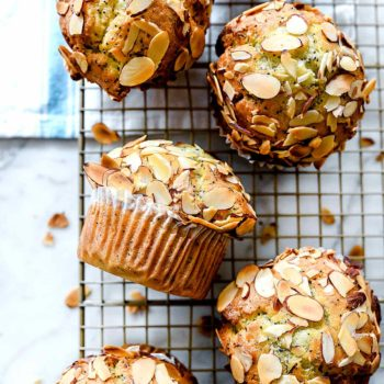 Lemon Poppyseed Muffins | foodiecrush.com #muffins #lemon #almond #poppyseed #recipes #easy