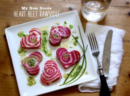 Foodie Crush My New Roots Heart Beet Rawvioli