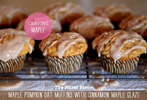 Foodie Crush The Hazel Bloom Pumpkin oat Muffin with Maple Glaze