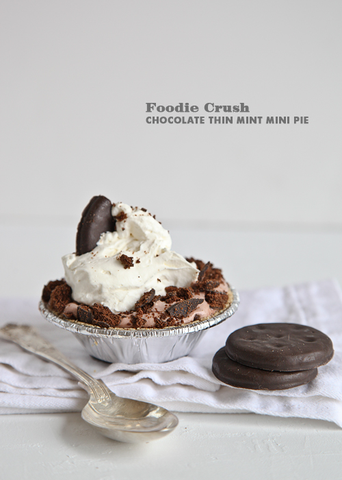 Foodie Crush Thin Mint Pudding Pie