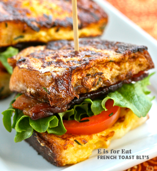 Foodie Crush E is for Eats French Toast BLT