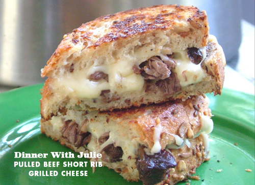 Foodie Crush Dinner With Julie Short RIb Grilled Cheese