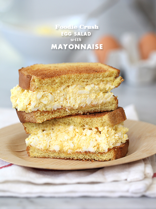 Classic Egg Salad Sandwich Recipe | foodiecrush.com