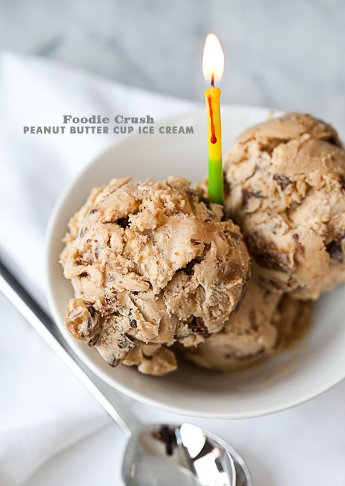 Foodie Crush Peanut Butter Cup Ice Cream