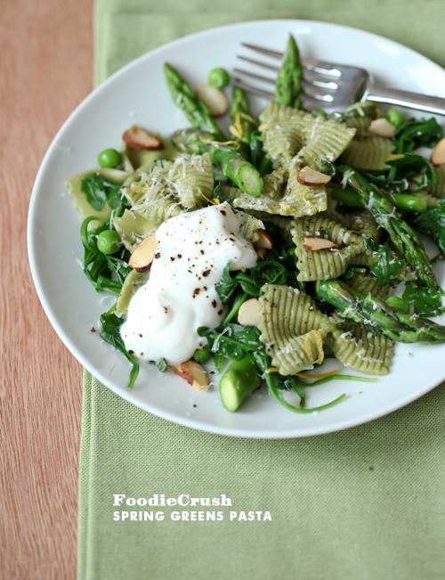 Spring Green Pasta | Foodiecrush.com