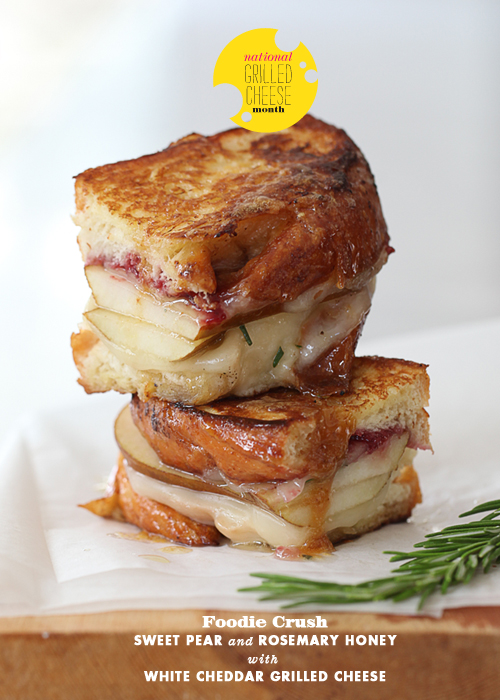 Sweet Pear Grilled Cheese | Foodiecrush.com