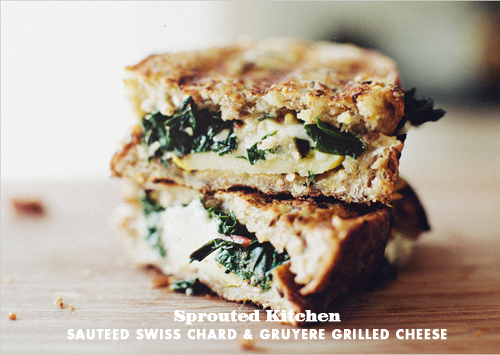 FOodie Crush Sprouted Kitchen Swiss Chard Grilled Cheese