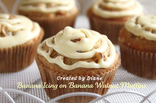 Created by Diane Banana Walnut Muffins