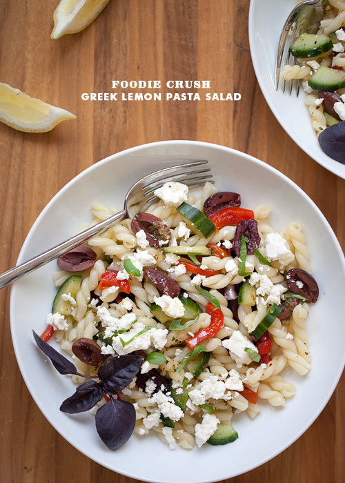 Foodie Crush Greek Pasta Salad