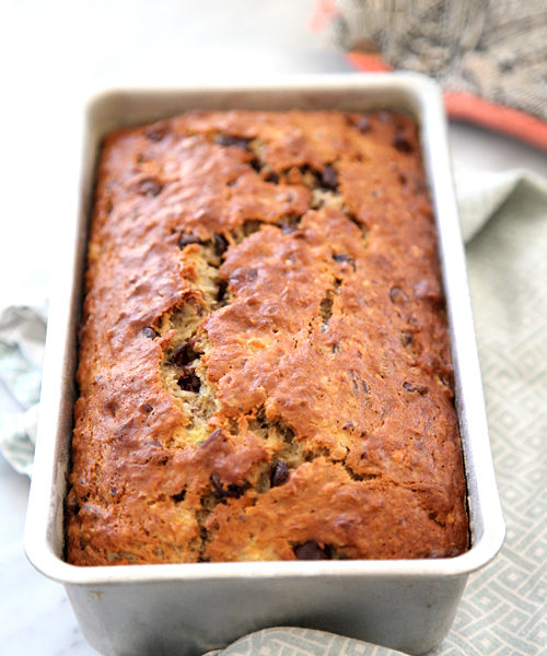 Chocolate Chip Banana Bread | foodiecrush.com