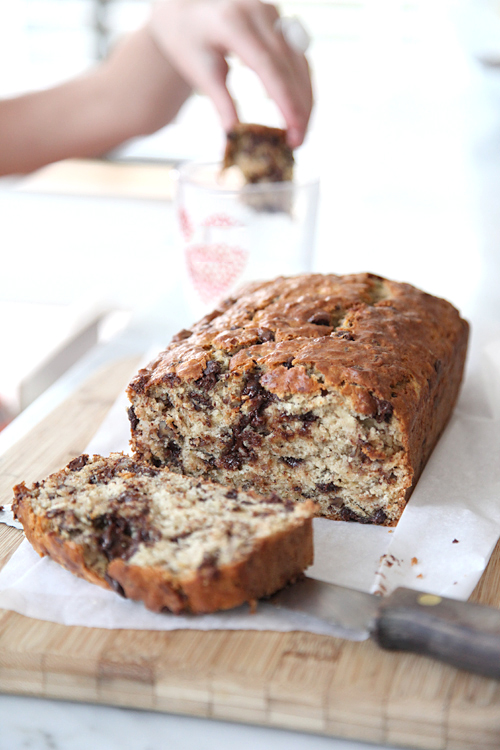 loaf of Chocolate Chip Banana Bread