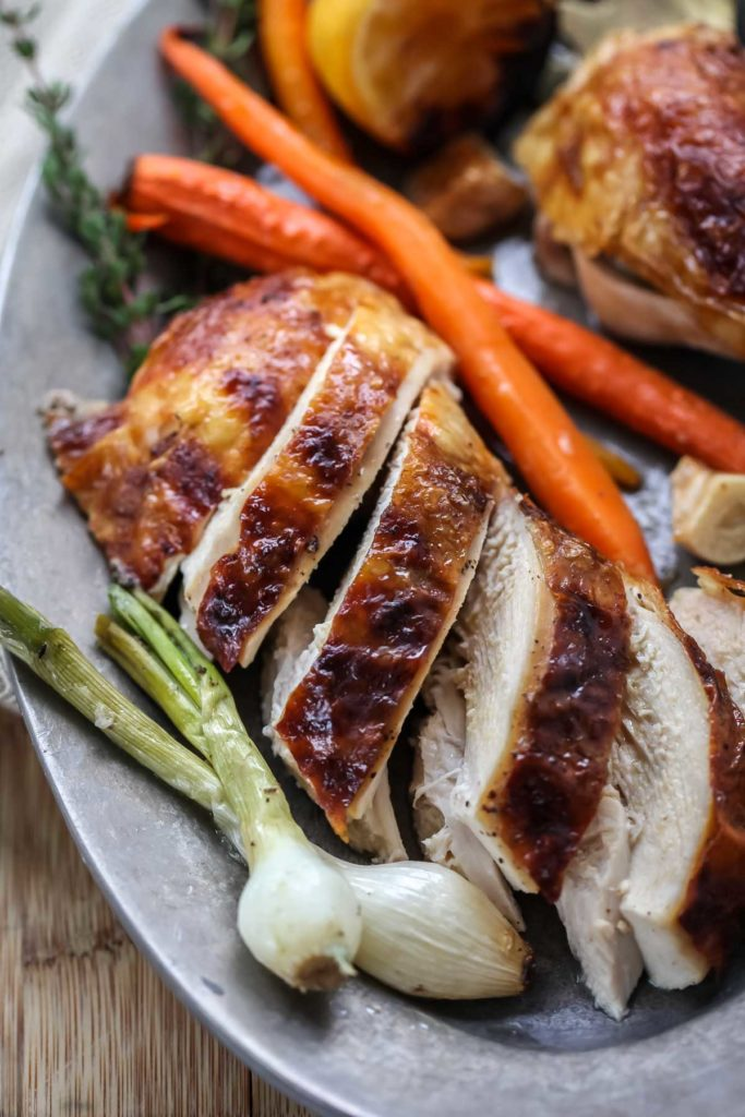 Juicy Roast Chicken | foodiecrush.com #chicken #recipes #dinner #whole #oven ideas