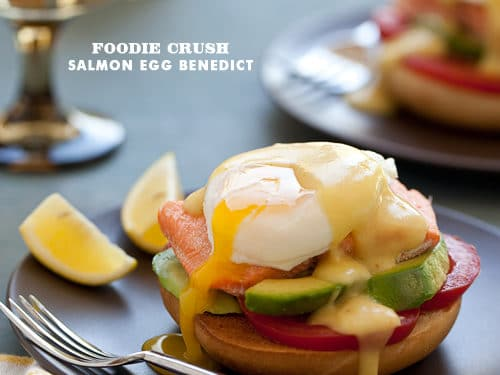 Salmon and Bagel Egg Benedict
