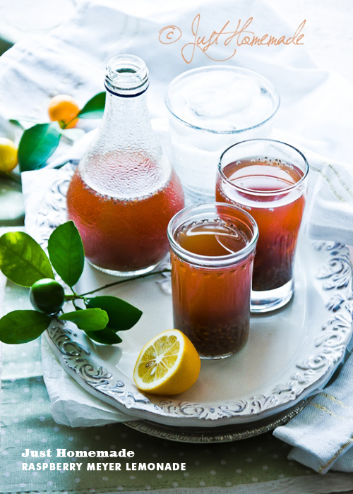 Foodie Crush Just Homemade Meyer Lemon Raspberry Tea