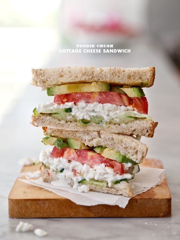 Cottage Cheese Sandwich | foodiecrush.com