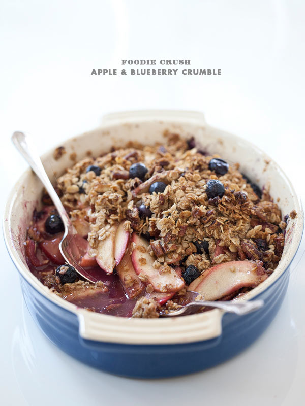 Recipe Apple Blueberry Crumble with Pecans