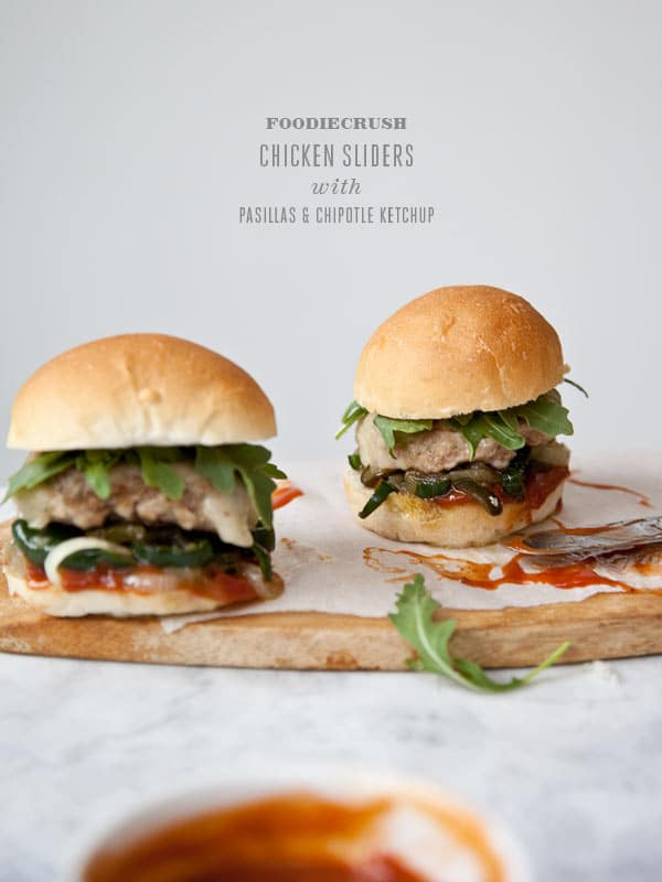 Chicken Sliders With Pasilla Peppers And Chipotle Ketchup Foodiecrush