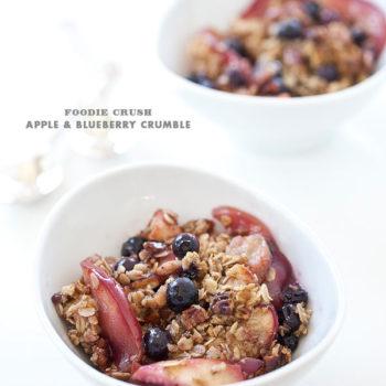 Recipe Apple Blueberry Crumble Foodie Crush