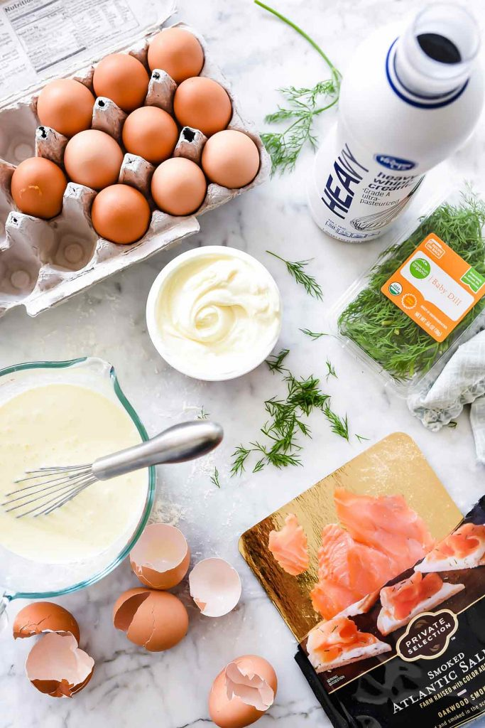 Smoked Salmon Egg Quiche ingredients | foodiecrush.com