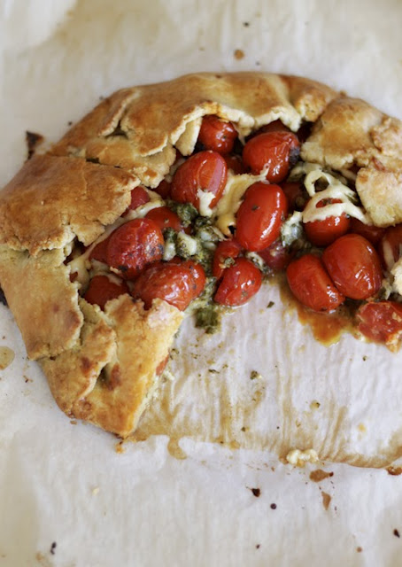 Tomato Pesto Crostata from Always With Butter on foodiecrush.com