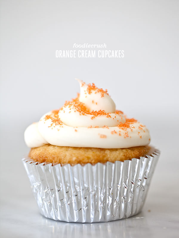 Creamcicle Cupcakes FoodieCrush