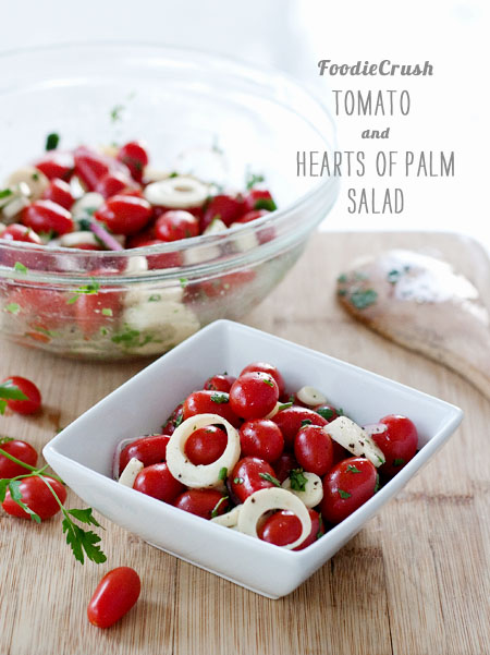 Cherry Tomato and Hearts of Palm Salad from FoodieCrush on foodiecrush.com