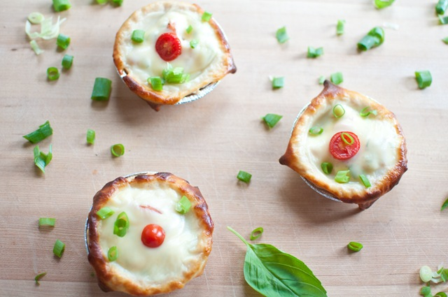Tomato and Cheese Tarts with Basil from Keep It SImple Foods on foodiecrush.com