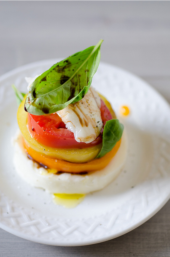 Caprese Stack from Pennies on a Platter on foodiecrush.com