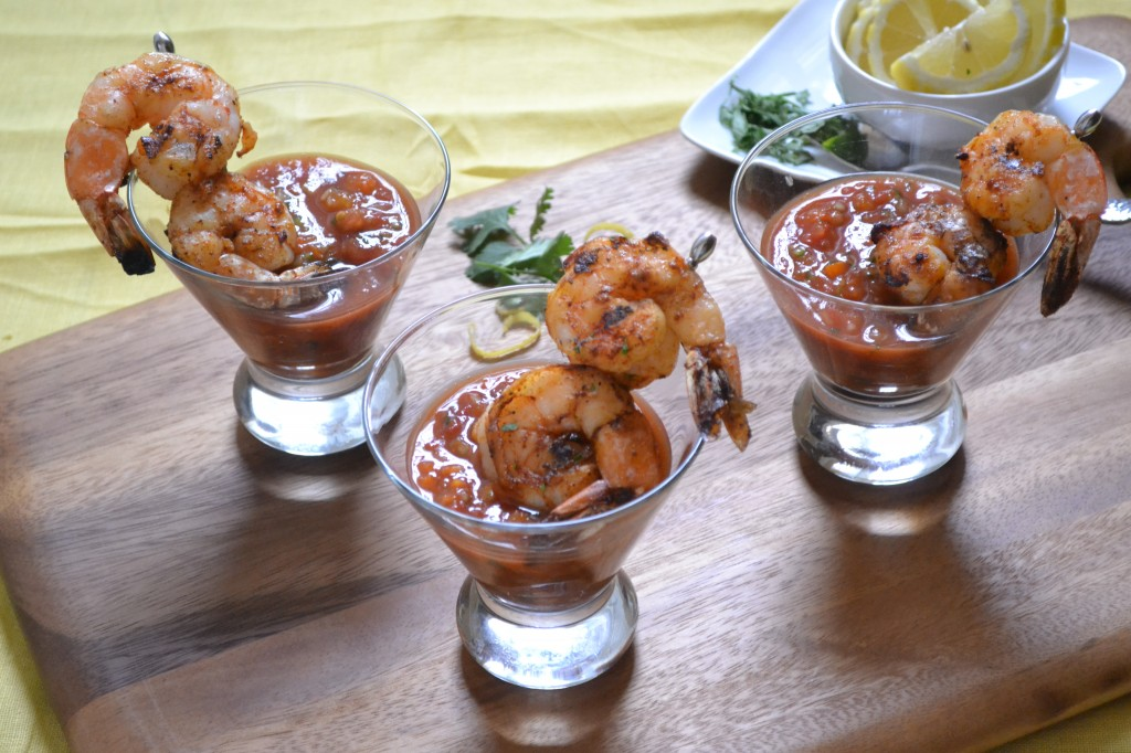 Grilled Shrimp Gazpacho from Sarcastic Cooking on foodiecrush.com