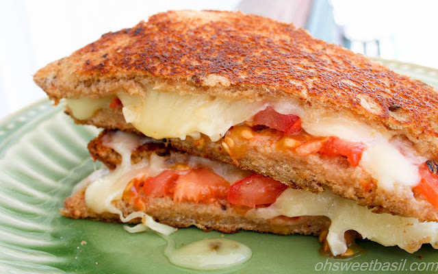 Honey Jack Grilled Cheese from Sweet Basil on foodiecrush.com