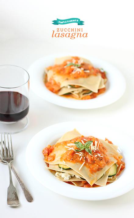 No-Bake Zucchini Lasagna from The Faux Martha on foodiecrush.com