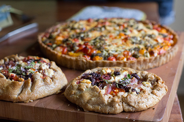 Mediterranean Galette from The Tomato Tart on foodiecrush.com
