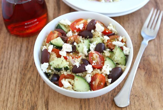 Greek Quinoa Salad from Two Peas and Their Pod on foodiecrush.com
