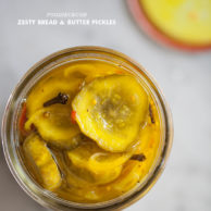 Bread and Butter Pickles from FoodieCrush.com