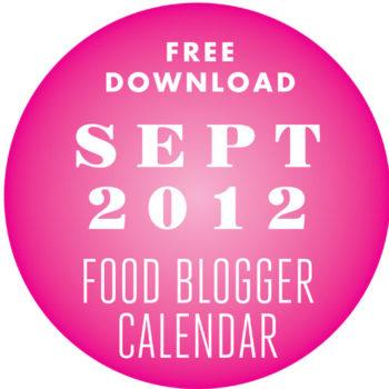 Food Blogger Calendar Sept 12
