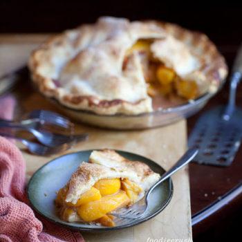 Mountain Peach Pie from FoodieCrush