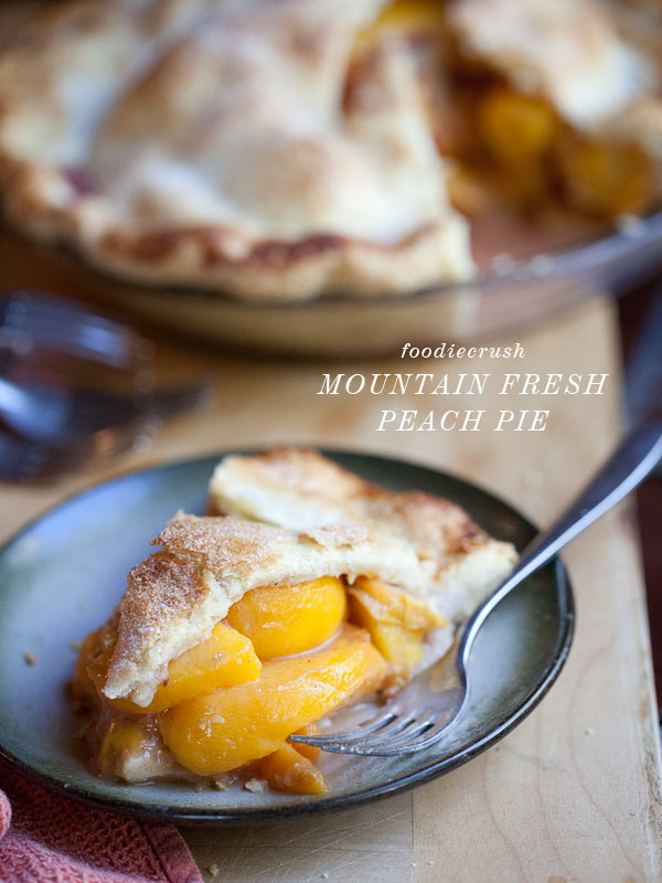 Mountain Fresh Peach Pie from FoodieCrush