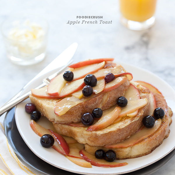 Apple French Toast from FoodieCrush