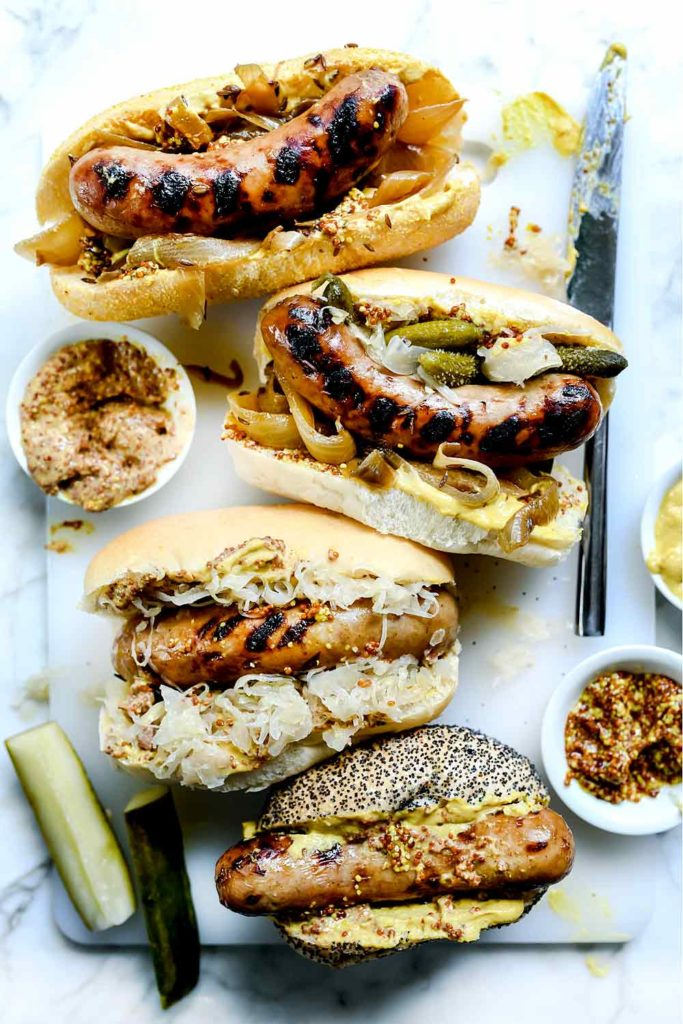 Beer Bratwurst with Onions | foodiecrush.com