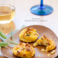 Pumpkin Gruyere Gougeres from FoodieCrush